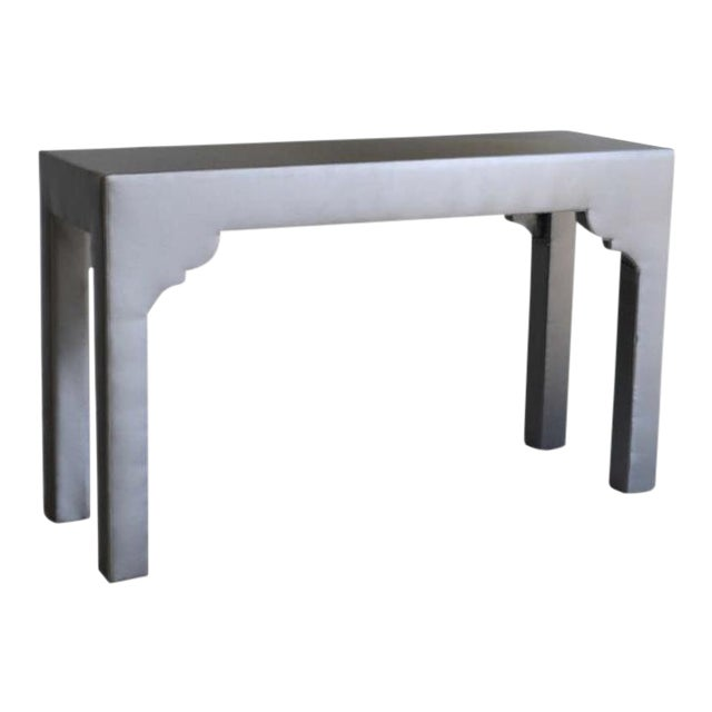 Upholstered Console Table For Sale