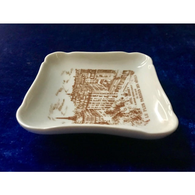 Hollywood Regency Vintage Hotel George V Bonbon Pillivuyt Ceramic Trinket Soap Dish For Sale - Image 3 of 8