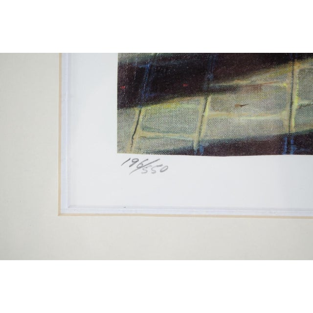 """Wood 1990's Vintage """"Louvre"""" Edition 196/550 Seri-Lithograph by Louis Robichaud For Sale - Image 7 of 13"""