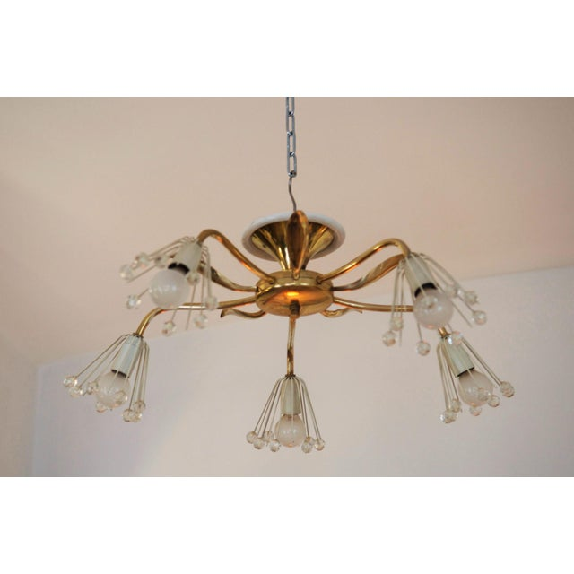 1950s Mid-Century Brass Chandelier by Emil Stejnar for Rupert Nikoll For Sale - Image 5 of 7