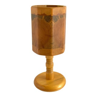 Mid-Century Scandinavian Swedish Wood Table Lamp For Sale