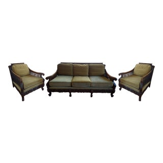 Danish Traditional Sofa and Chairs - 3 Pc.