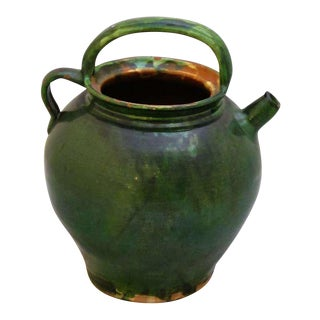 French Green Glaze Pots For Sale