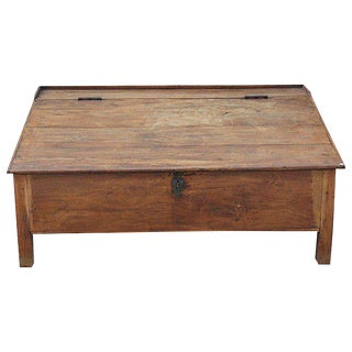 British Colonial Teak Floor Desk For Sale