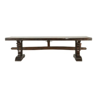 Antique French Trestle Dining Table, Circa 1800s For Sale