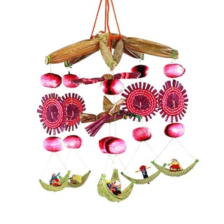Bohemian Pink Hanging Mobile For Sale