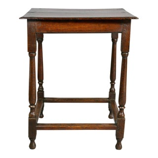 William and Mary Oak Table For Sale
