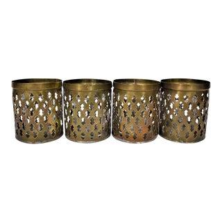 Vintage Brass Votive Candleholders - Set of 4 For Sale