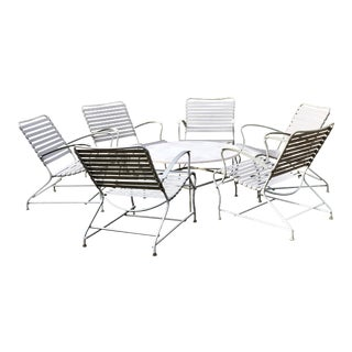 Mid Century Modern Patio Furniture Chairs & Table- Set of 7 For Sale