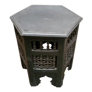 Moroccan Octagonal Wooden Musharabi Side Table For Sale