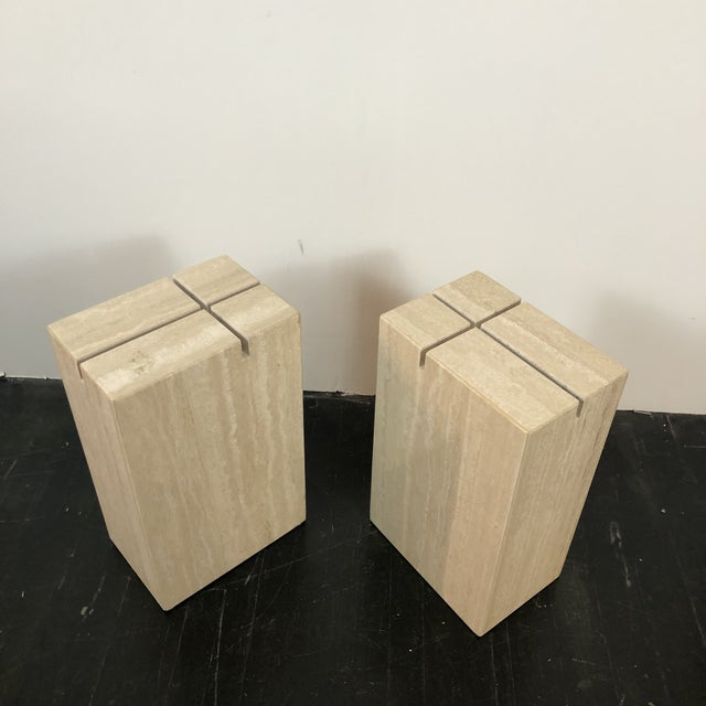 1970s Artedi Italian Marble Side Tables - a Pair For Sale - Image 10 of 13