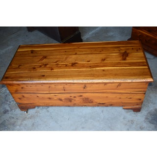 Vintage Rustic Solid Red Cedar Trunk Preview