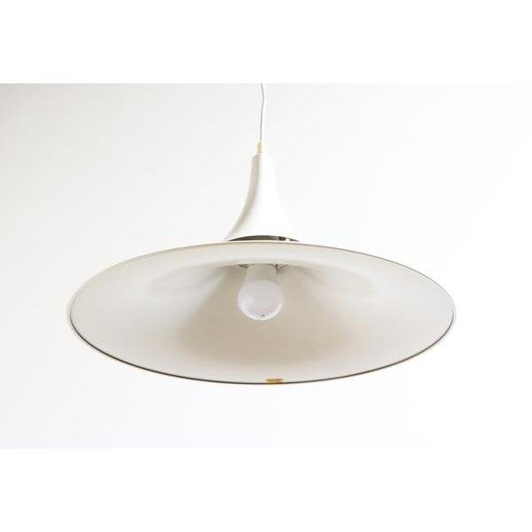 Hamalux Fluted White Hanging Lamp.