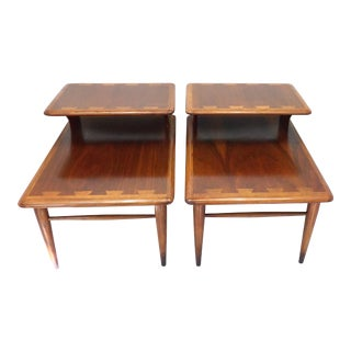 1960s Mid-Century Modern Lane Acclaim End Tables - a Pair For Sale
