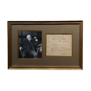 Thomas Edison Original Hand Signed Document Letter, Dated 1909 For Sale