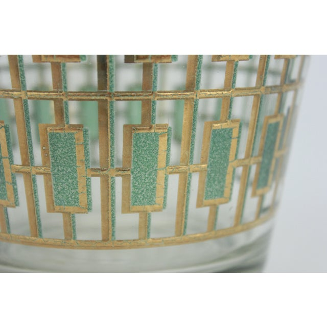 Vintage Culver Green and Gold Ice Bucket - Image 5 of 6
