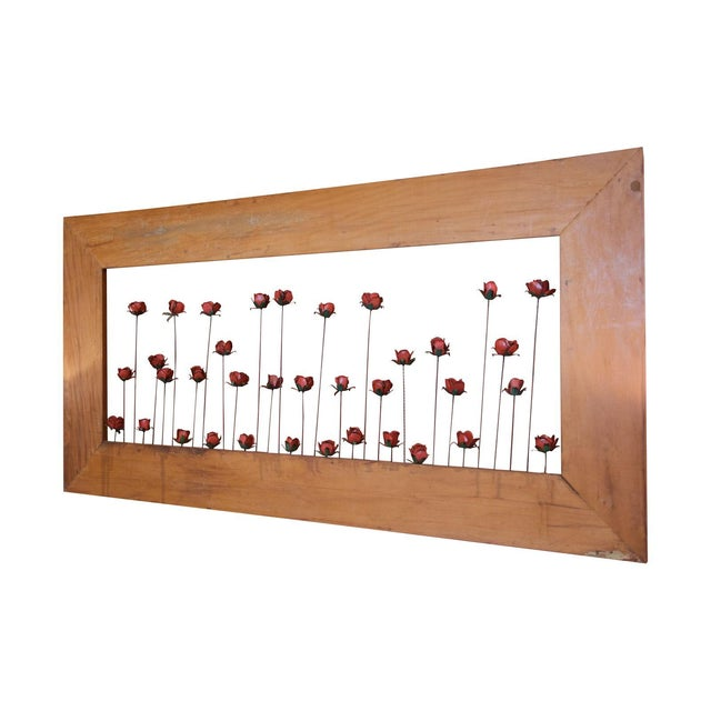 Framed Metal Roses - Image 1 of 5
