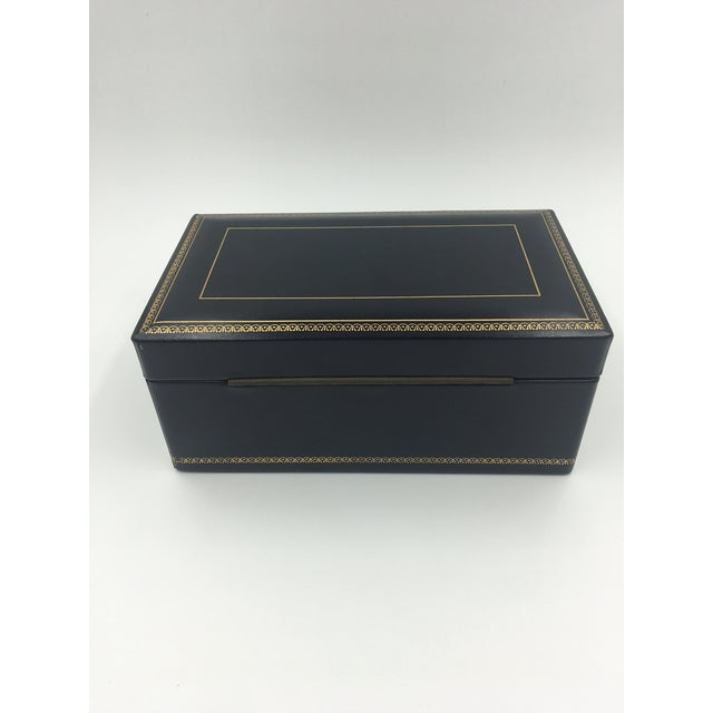 Black Leather Embossed Humidor For Sale - Image 4 of 8