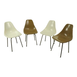Mid Century Fiberglass Shell Chairs by Burke For Sale
