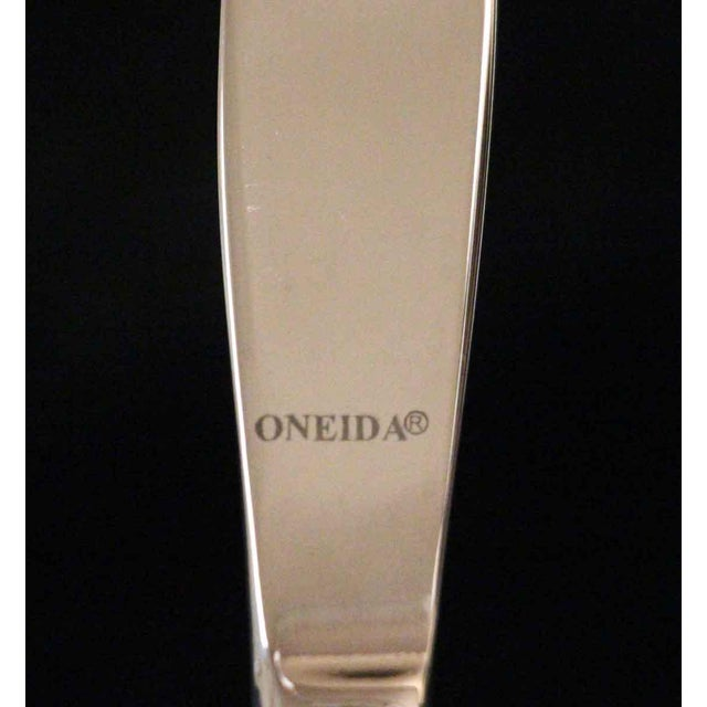 Oneida Waldorf Astoria Silver Plated Art Deco Butter Knife For Sale - Image 4 of 5