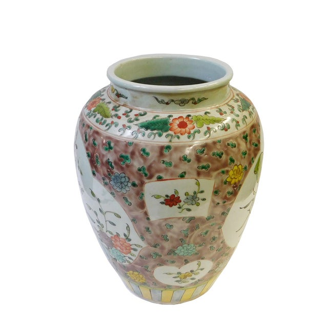 Chinese Flower Bird Scenery Porcelain Vase - Image 2 of 6