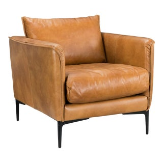 Tahoe Leather Club Chair For Sale