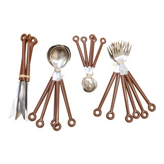 1960's Mono Germany Set for 5 Flatware - 21 Pc. Set For Sale