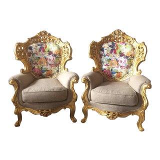 1900's Italian Baroque Chair-1 Chair Left
