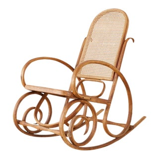 Thonet Bentwood and Cane Rocking Chair For Sale