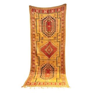 "AIT OUAGHRDA Vintage Moroccan Rug, 5'3"" x 13'3"" feet"