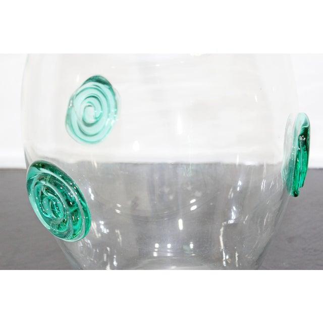 Blenko Blenko Mid-Century Modern Clear Handcrafted Glass Vase For Sale - Image 4 of 6