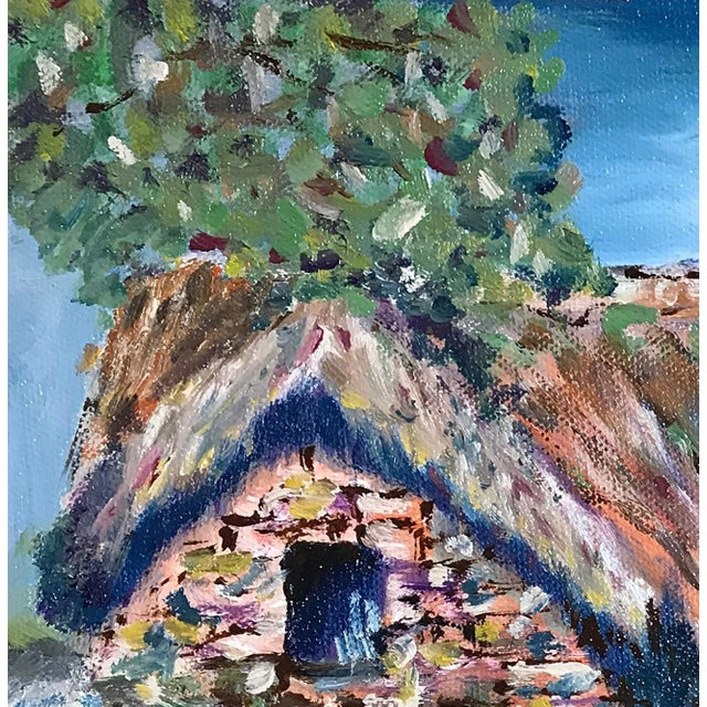 Nancy T. Van Ness Irish Home Original Oil Painting For Sale In Saint Louis - Image 6 of 7