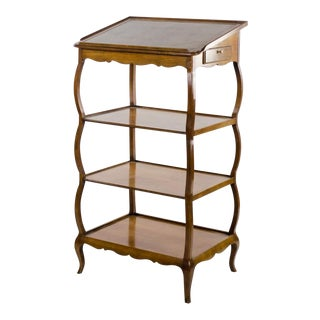French Provincial Style 4 Tier Podium Etagere For Sale