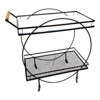 Mid Century Modern Patio Bar Cart For Sale