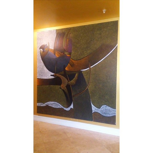 Milton Estrella-Gavidia Large Abstract Painting For Sale - Image 4 of 10