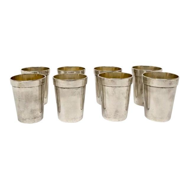 Vintage Sterling Sake Cups - Set of 8 For Sale