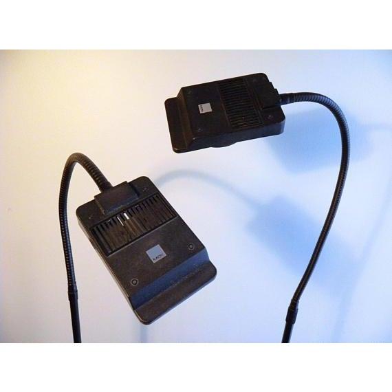 Black Vintage Modern Electrix Halogen Reading Library Floor Lamps - A Pair For Sale - Image 8 of 10