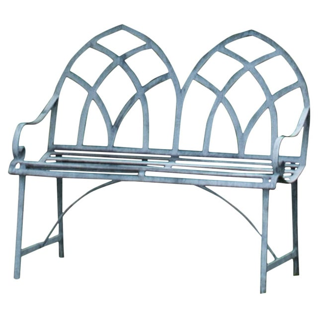 Gothic 21st Century Gothic Style Garden Bench For Sale - Image 3 of 3