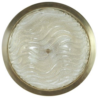 Textured Glass Flush Mount by Doria For Sale
