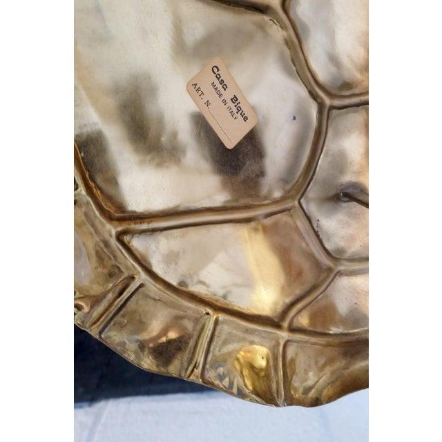 Casa Bique Brass Tortoise Back Light Floor Lamp For Sale - Image 5 of 5