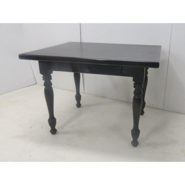 White Country Paint Distressed Farm Table For Sale - Image 8 of 8