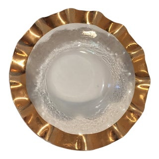Annieglass Ruffle Large Salad Bowl For Sale