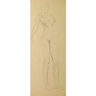 Rosemarie Schulz, Vintage Pencil Drawing - Graceful Female Nude For Sale