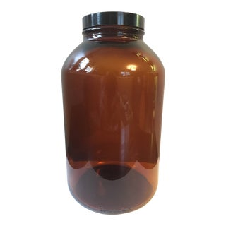 Brown Glass Jar With Lid For Sale
