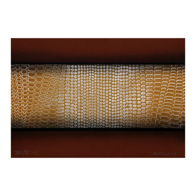 "Paul Maxwell ""Snake Skin (Brown)"" Serigraph - Image 1 of 2"