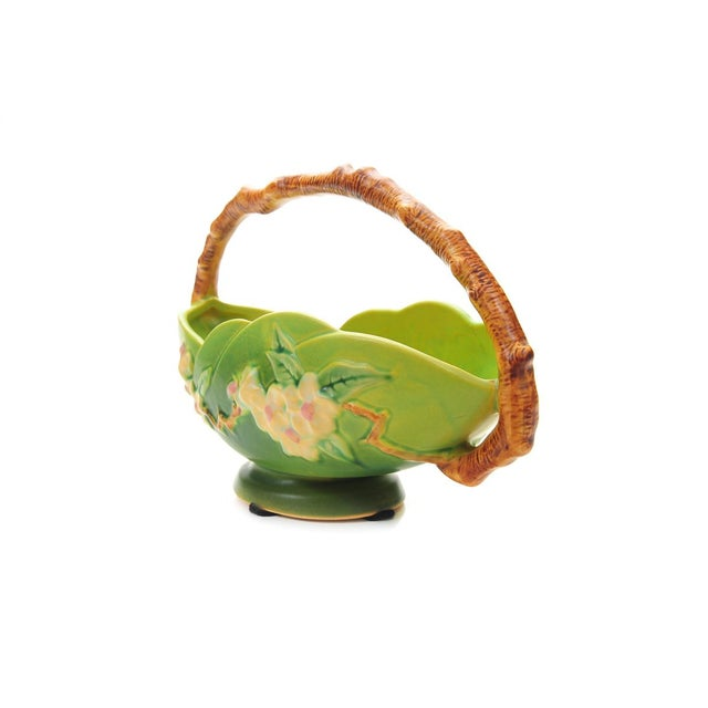 Antique Roseville Pottery Green Basket - Image 7 of 10