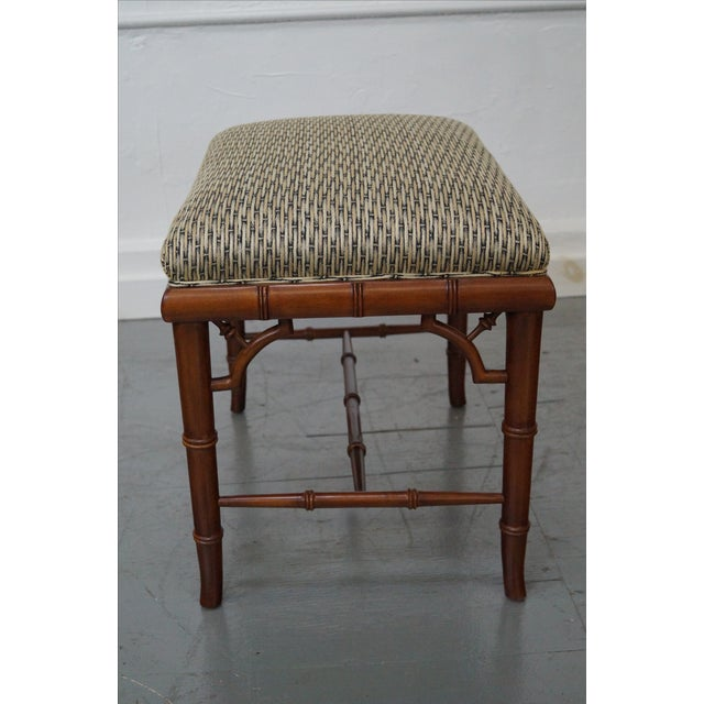Councill Craftsman Faux Bamboo Ottoman - Image 4 of 10