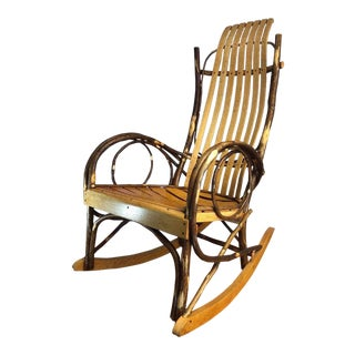 1960s Vintage Davis & Wentz Americana Rocking Chair For Sale