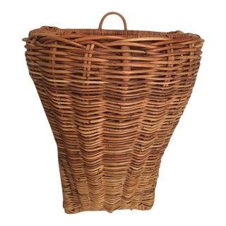 Vintage Harvest Wall Basket For Sale