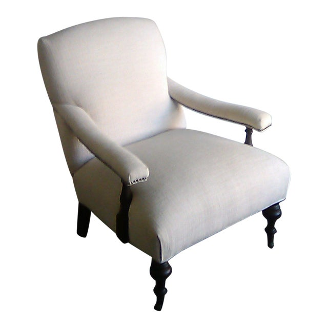 Lillian August Custom Made Lee Industry Fireside Lounge Chair For Sale